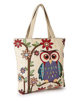 Owl tapestry Shopper Bag