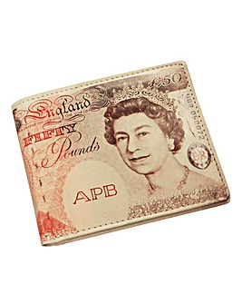 Personalised Fifty Pound Note Wallet