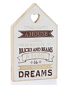 Home Wooden Plaque