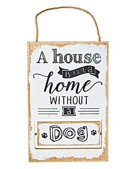 Reversible Pet Wooden Plaque