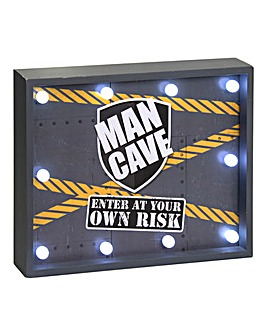 Man Cave Light Up Sign
