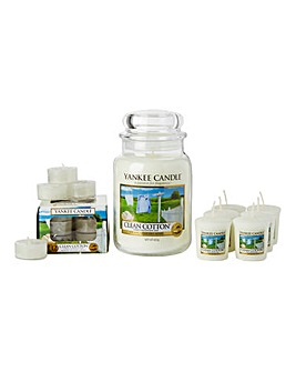 Yankee Candle Clean Cotton Set