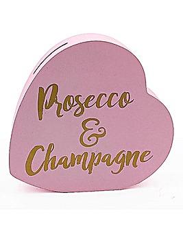 Prosecco & Champagne Heart Money Bank