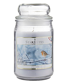 Starlytes Crisp Winter 16oz Jar Candle