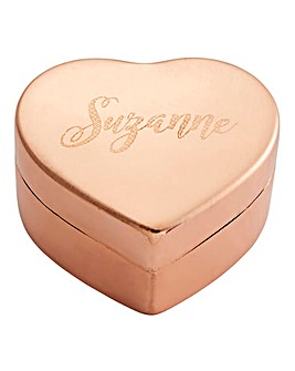 Personalised Copper Heart Trinket Box