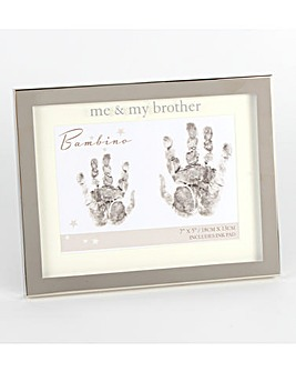 Bambino Silverplated Hand Print Frame