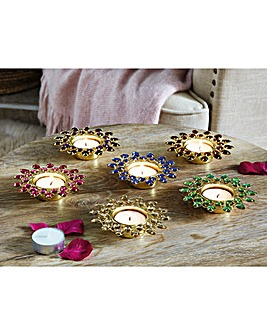 Jewel Tealight Holders Set of 6