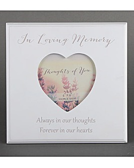 In Loving Memory Heart Frame
