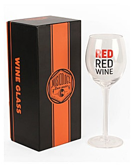Musicology Red Wine Glass