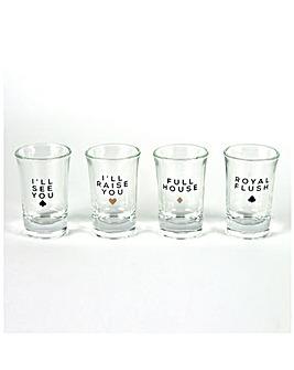 Monte Carlo Shot Glass Set