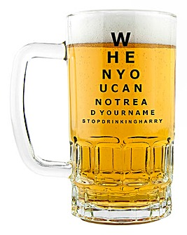 Personalised Opticians Beer Glass