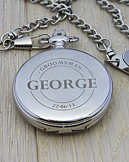 Personalised Groomsman Pocket Watch