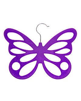 Purple Butterfly Scarf Hanger