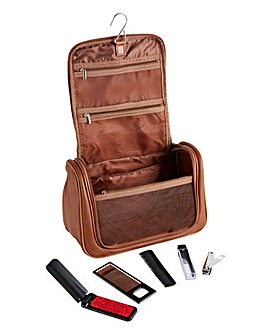 Mens Wash Bag and Grooming Tools