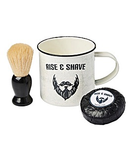 Rise & Shave Mug and Shaving Set