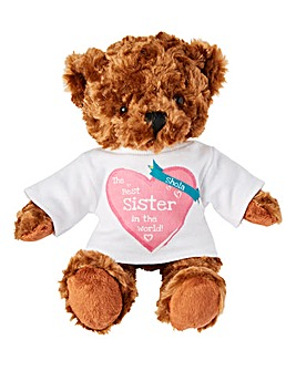 Teddy Bear with Personalised T Shirt
