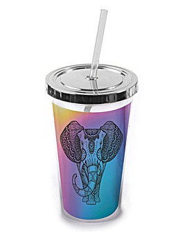 Iridescent Straw Cup