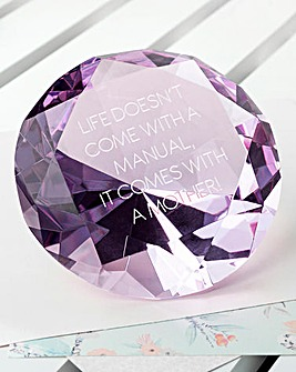 Personalised Large Diamond Paperweight