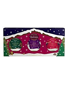 Wax Lyrical Set 3 Christmas Candle Tins