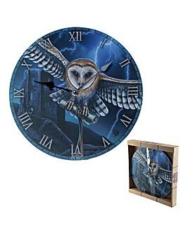 Lisa Parker Heart of the Storm Owl Clock
