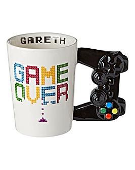 Personalised Game Over Shaped Mug