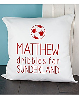 Personalised Football Cushion Cover