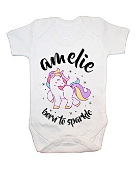 Personalised Born to Sparkle Baby Vest