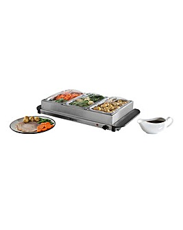 Elgento 3x 1.5Litre Server and Hotplate