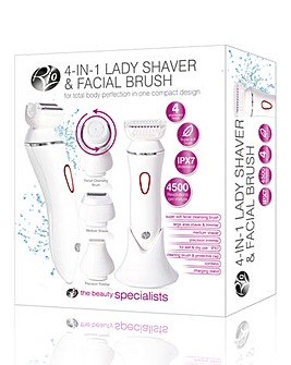 Rio 4 in 1 Lady Shaver & Cleansing Brush