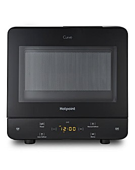 Hotpoint Curve 13L Black Microwave