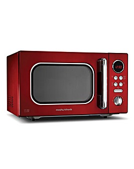 Morphy Richards 23L 800W Red Microwave