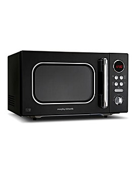 Morphy Richards 23L 800W Black Microwave