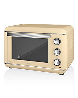 Swan 23L Retro Cream Mini Oven