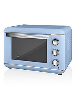 Swan 23L Retro Blue Mini Oven