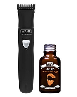 WAHL Beard Trimmer & Beard Oil Set