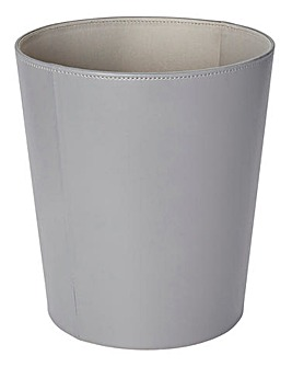 Faux Leather Two-Tone Waste Paper Bin