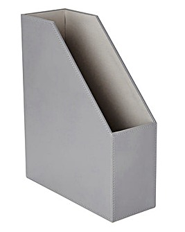 Faux Leather Two-Tone File Holder