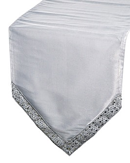 Organza Table Runner with Sequin Lace