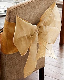 Organza Chair Bow Set of 2