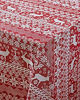 Reindeer Table Cloth 180x230cm