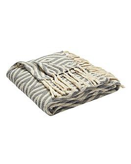 Kanuri Woven Cotton Throw