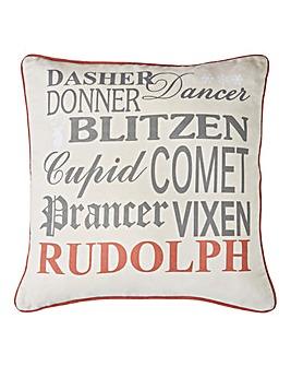 Reversible Christmas Reindeer Cushion