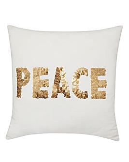 Peace Sequin Cushion