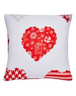 Hearts Fleece Cushion