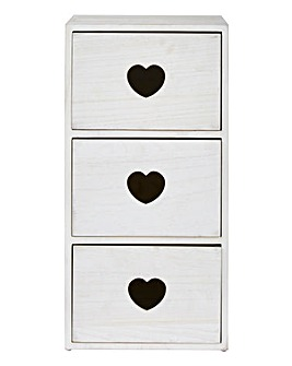 3 Drawer Cabinet with Hearts