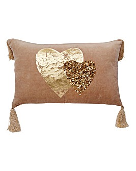 Ismay Embellished Cushion with Tassels