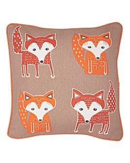 Fox Applique Cushion