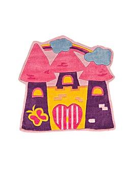 Fairy Castle Design Kids Rug