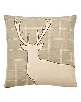 Petworth Applique Stag Cushion