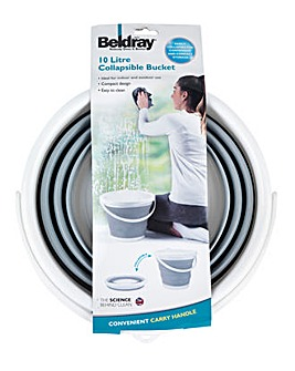 Beldray Grey 10L Collapsible Bucket
